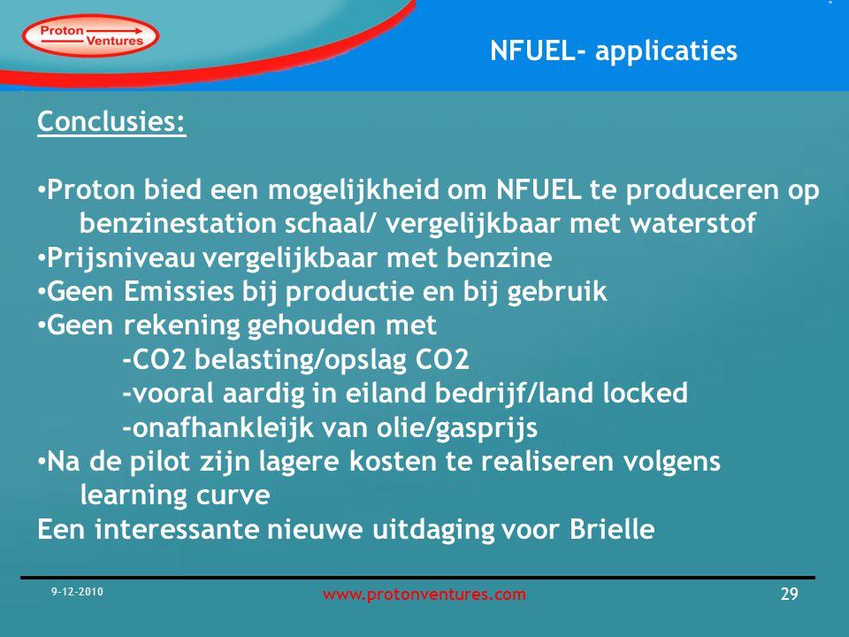 NFUEL- applicaties De key question?: Is de NFuel unit haalbaar of niet haalbaar Guess !!!.