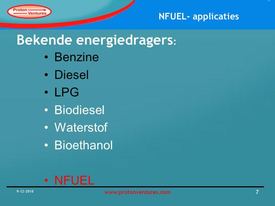 NFUEL- applicaties 9-12-2010 8www.protonventures.com