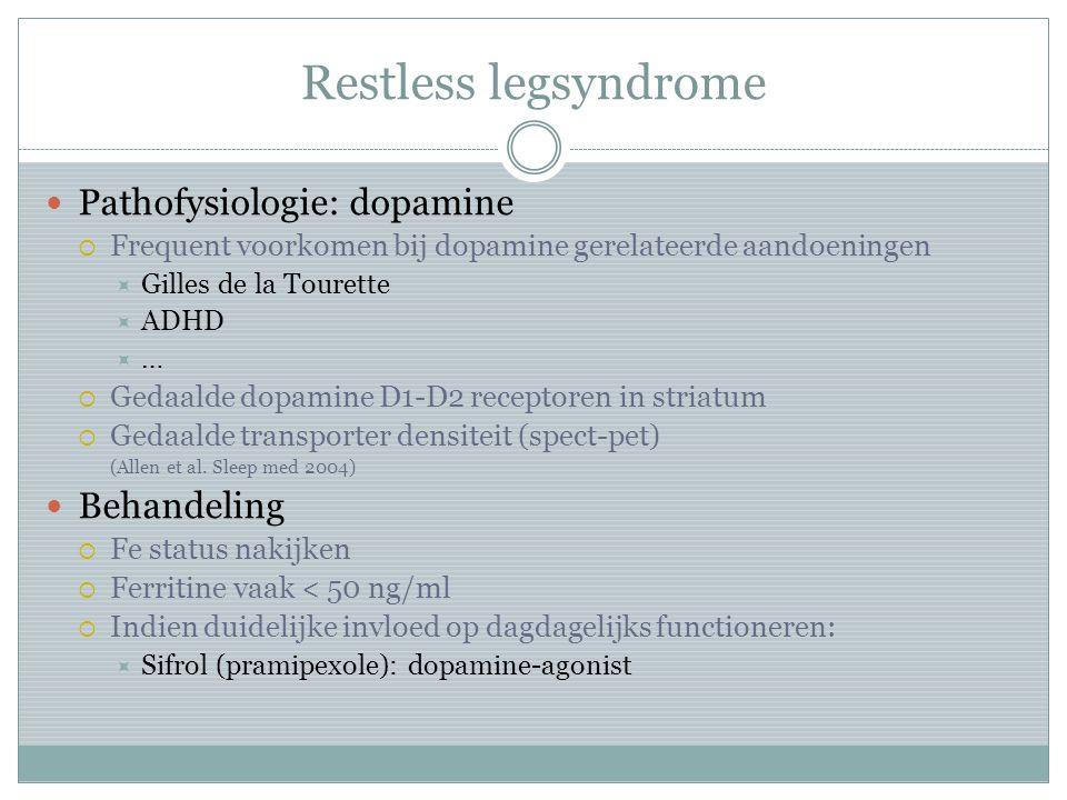 Pathofysiologie: dopamine  Frequent voorkomen bij dopamine gerelateerde aandoeningen  Gilles de la Tourette  ADHD  …  Gedaalde dopamine D1-D2 rec