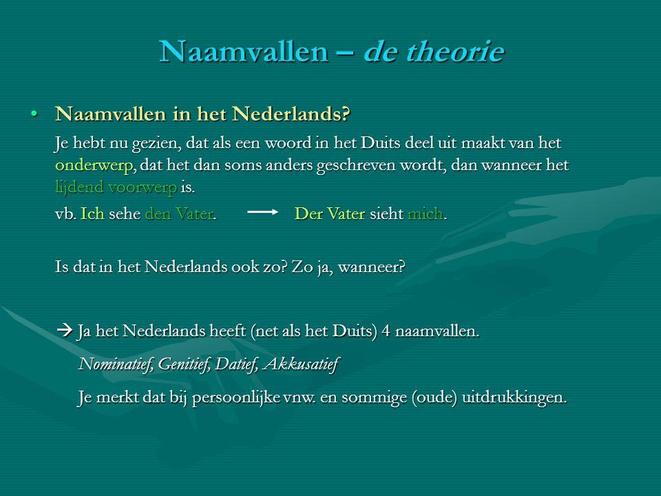 Naamvallen in het Nederlands?Naamvallen in het Nederlands.