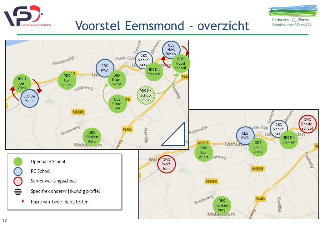 17 Voorstel Eemsmond - overzicht OBS J.