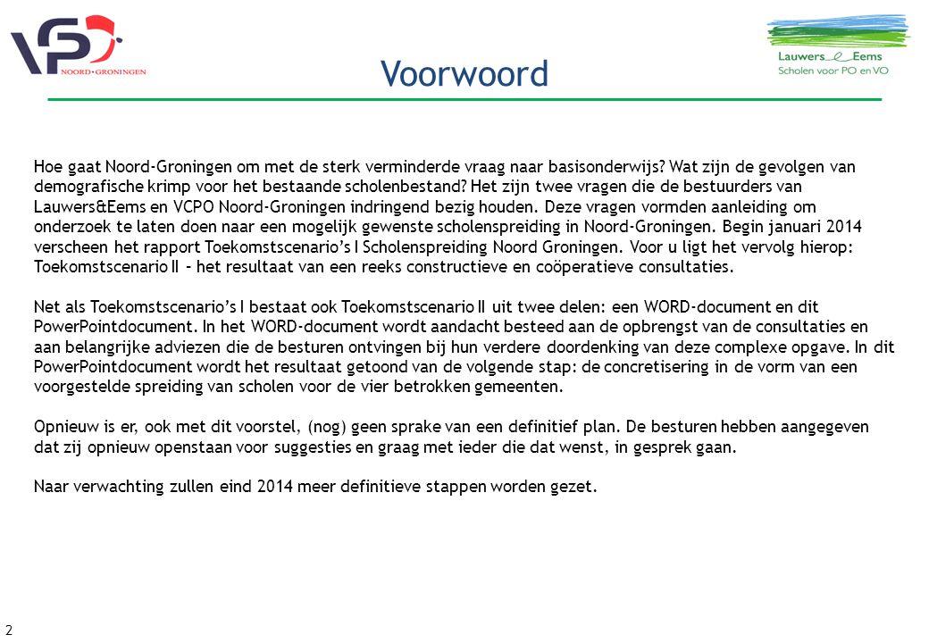 2 Voorwoord Hoe gaat Noord-Groningen om met de sterk verminderde vraag naar basisonderwijs.