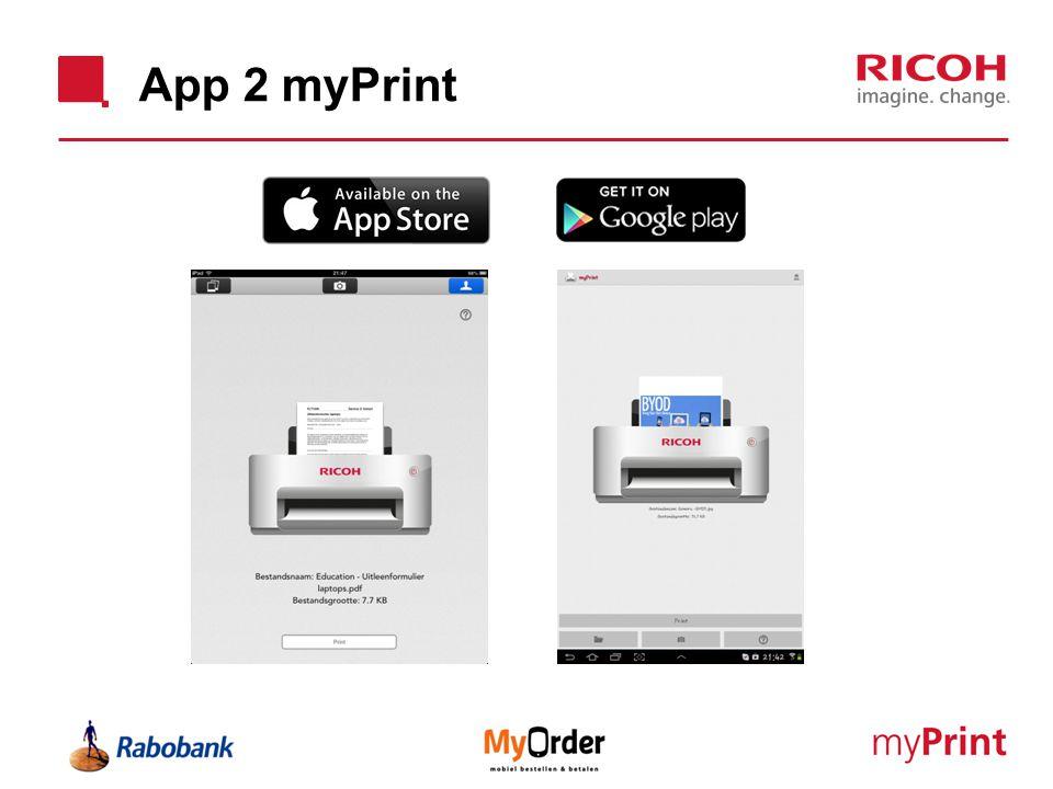 App 2 myPrint