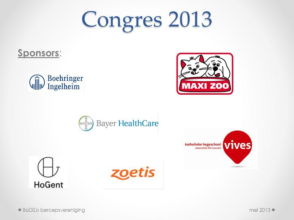 Congres 2013 Sponsors : mei 2013BaDiZo beroepsvereniging