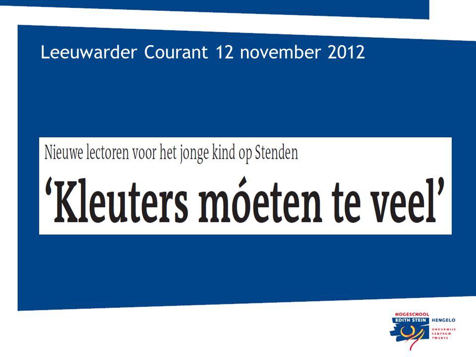 Leeuwarder Courant 12 november 2012
