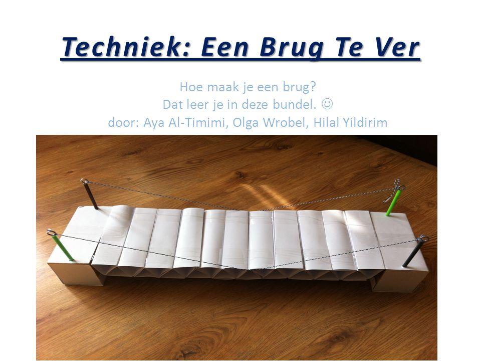 Techniek: Een Brug Te Ver Hoe maak je een brug? Dat leer je in deze bundel. door: Aya Al-Timimi, Olga Wrobel, Hilal Yildirim