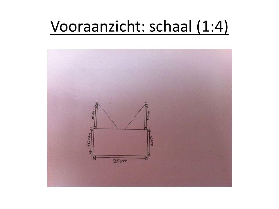 Vooraanzicht: schaal (1:4)