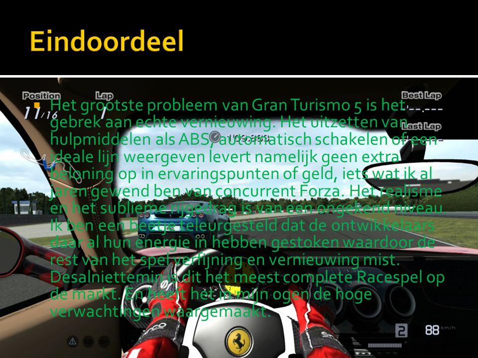 Het grootste probleem van Gran Turismo 5 is het gebrek aan echte vernieuwing.