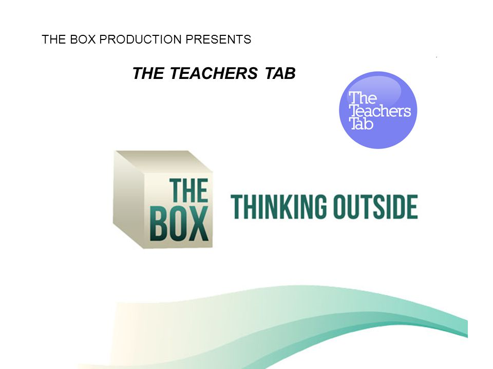 The Box presenteert: TheTeachersTab THE BOX PRODUCTION PRESENTS THE TEACHERS TAB