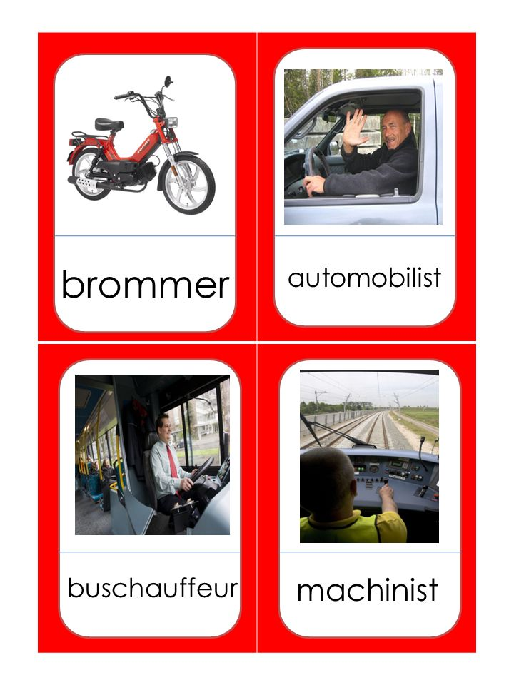 brommer automobilist buschauffeur machinist