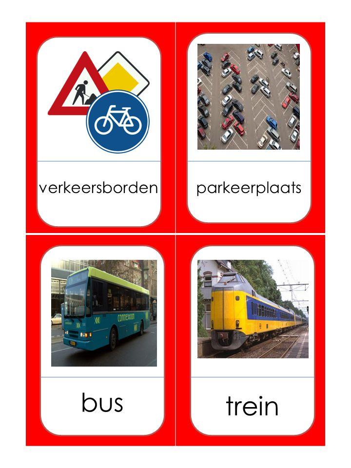 verkeersbordenparkeerplaats bus trein