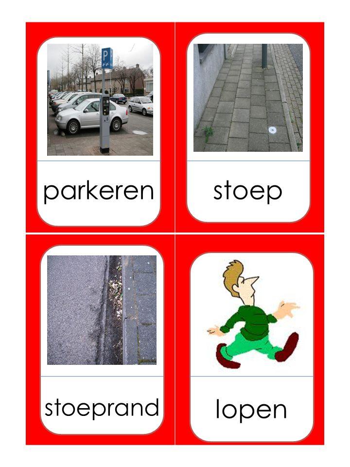 parkerenstoep stoeprand lopen