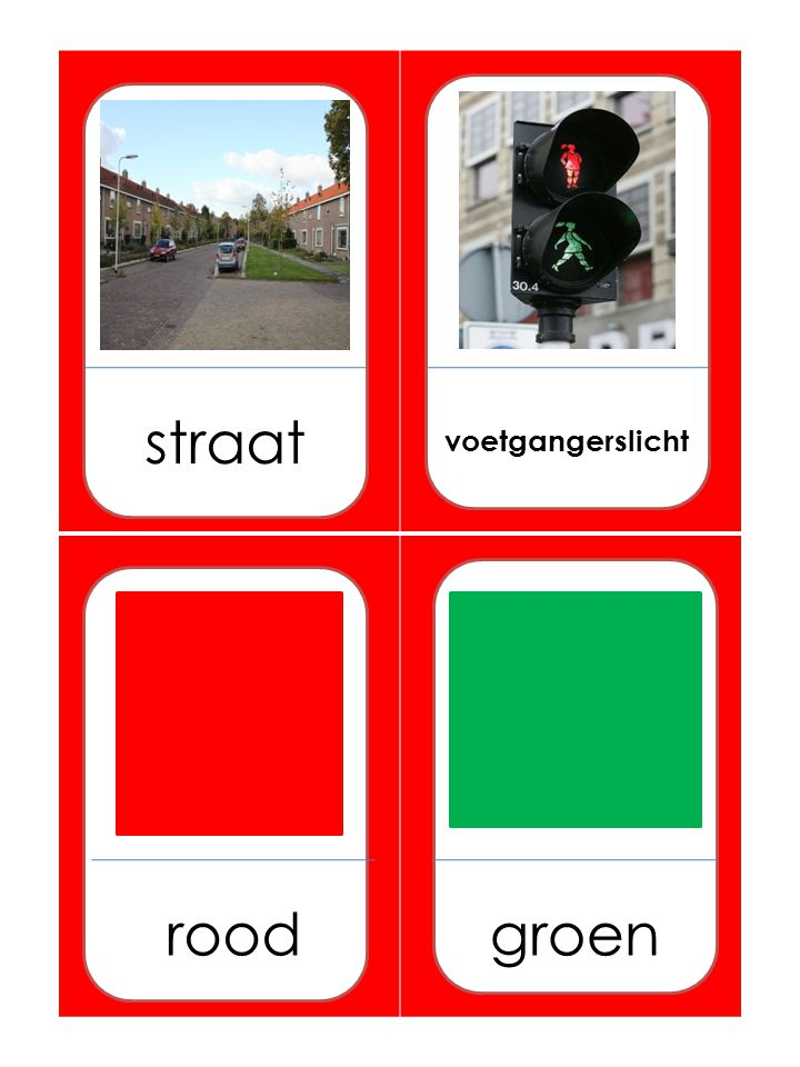 straat voetgangerslicht roodgroen