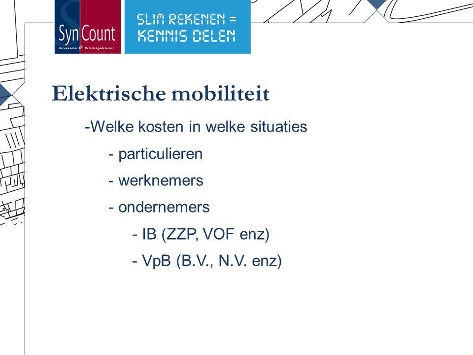 -Welke kosten in welke situaties - particulieren - werknemers - ondernemers - IB (ZZP, VOF enz) - VpB (B.V., N.V.