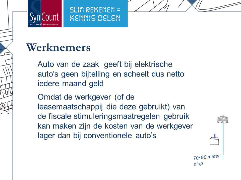 Ondernemers hebben recht op een aantal (milieu)maatregelen die zorgen voor lage kosten bij elektrische auto's De maatregelen zijn: Kleinschaligheidsinvesteringsaftrek (KIA) Milieu-investeringsaftrek (MIA) Willekeurige afschrijving milieu-investeringen (VAMIL) Ondernemers