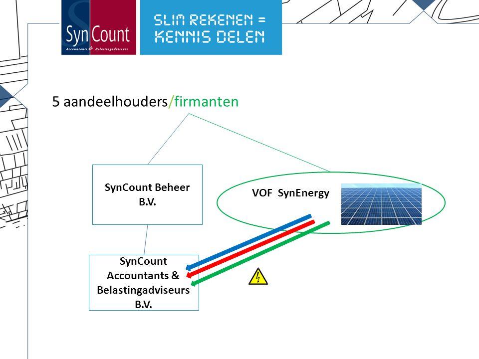 9 SynCount Beheer B.V. SynCount Accountants & Belastingadviseurs B.V.