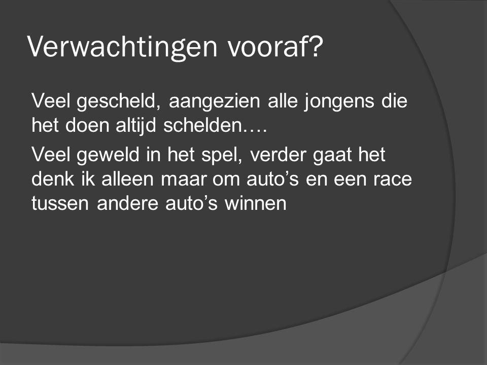 Ervaring Het spel gaat niet om een race tussen andere auto's.
