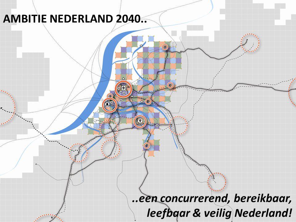 ..een concurrerend, bereikbaar, leefbaar & veilig Nederland! AMBITIE NEDERLAND 2040..