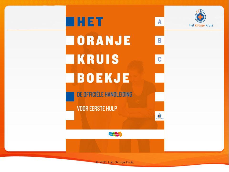 © 2011 Het Oranje Kruis Stoornissen in de ademhaling: geen letsel ondersteun het slachtoffer in principe geen plastic zak o.i.d.