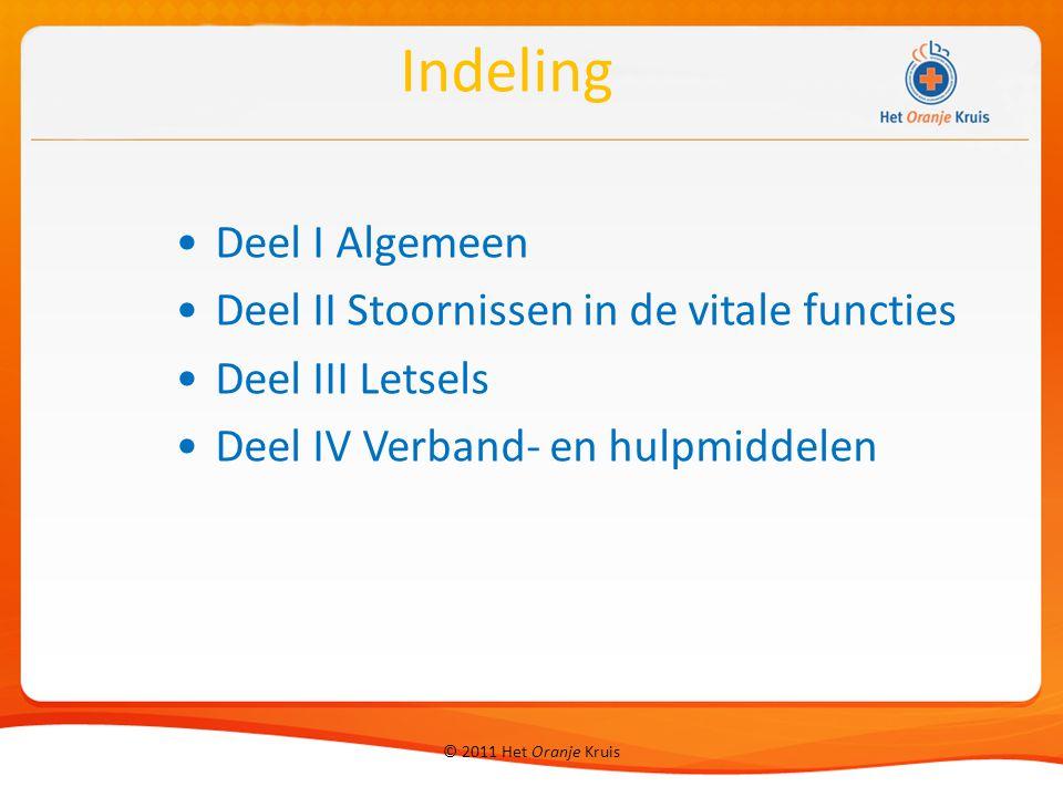Deel I Algemeen Deel II Stoornissen in de vitale functies Deel III Letsels Deel IV Verband- en hulpmiddelen Indeling