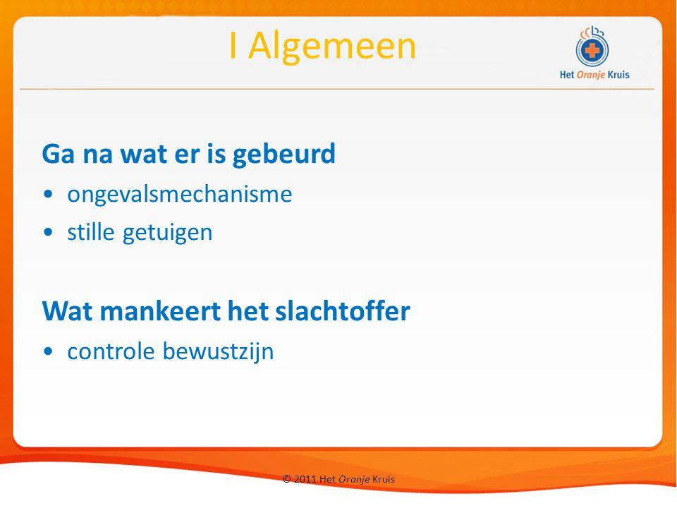 © 2011 Het Oranje Kruis Reanimatie gebruik gelaatsdoekje/beademingsmasker Rautek vanaf bed of bank II Vitale functies