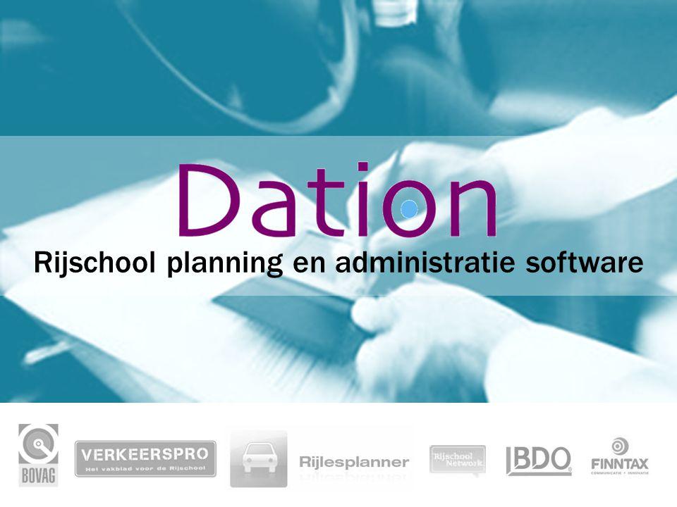 Rijschool planning en administratie software