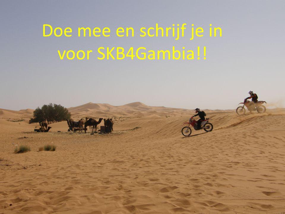 Doe mee en schrijf je in voor SKB4Gambia!!