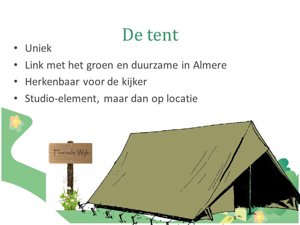 De tent Uniek Link met het groen en duurzame in Almere Herkenbaar voor de kijker Studio-element, maar dan op locatie