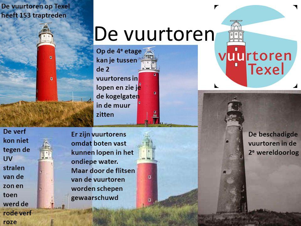 De vuurtoren De verf kon niet tegen de UV stralen van de zon en toen werd de rode verf roze De vuurtoren op Texel heeft 153 traptreden De beschadigde