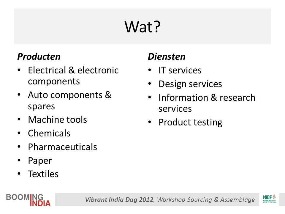 Vibrant India Dag 2012, Workshop Sourcing & Assemblage Wat.