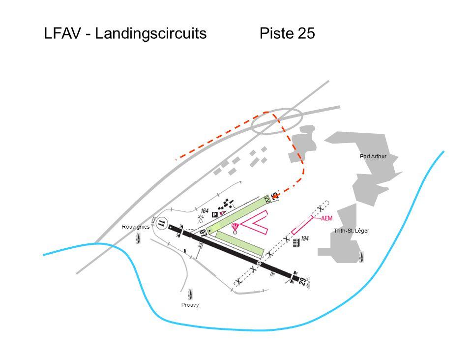 LFAV - LandingscircuitsPiste 25 Port Arthur Trith-St.