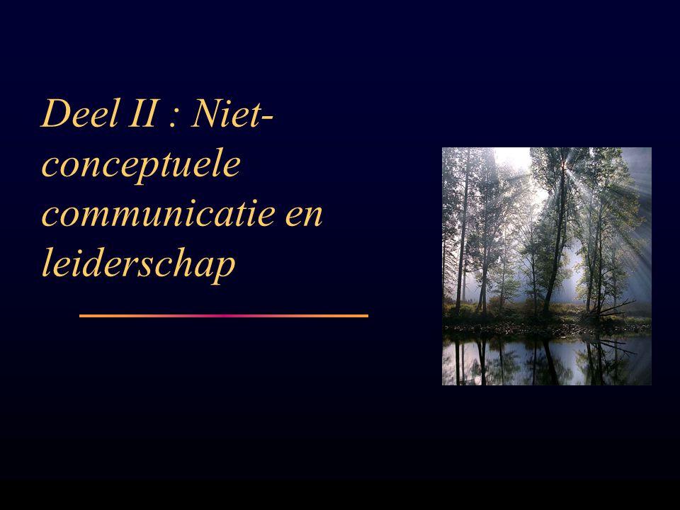 Deel II : Niet- conceptuele communicatie en leiderschap