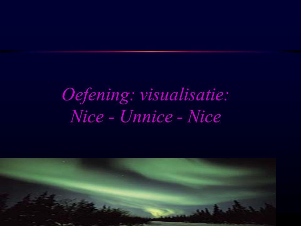 OSIRIS © www.aurelis.org Oefening: visualisatie: Nice - Unnice - Nice