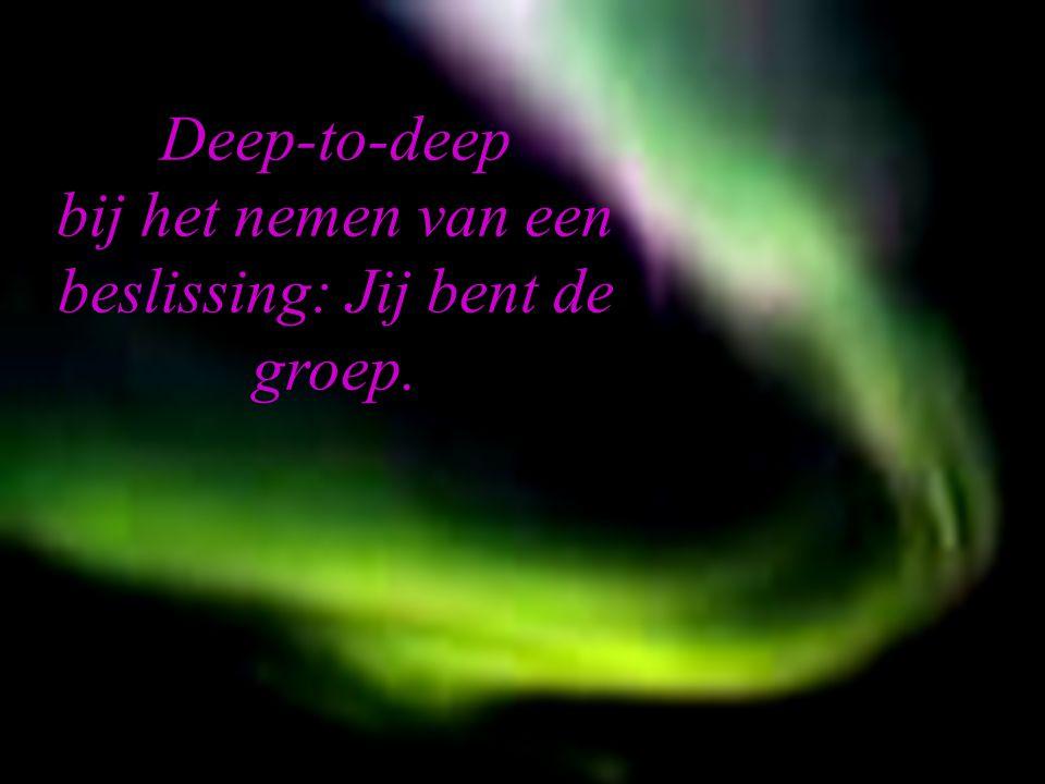 OSIRIS © www.aurelis.org. Deep-to-deep bij het nemen van een beslissing: Jij bent de groep.