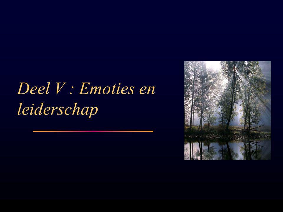 Deel V : Emoties en leiderschap