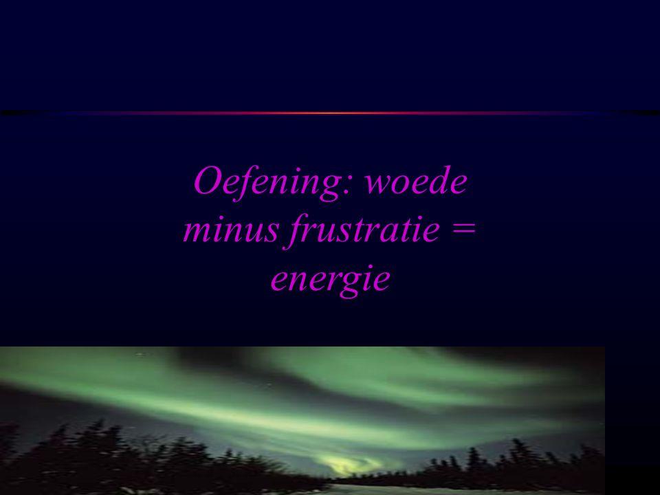 OSIRIS © www.aurelis.org Oefening: woede minus frustratie = energie