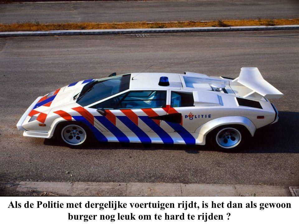 Als de Politie met dergelijke voertuigen rijdt, is het dan als gewoon burger nog leuk om te hard te rijden