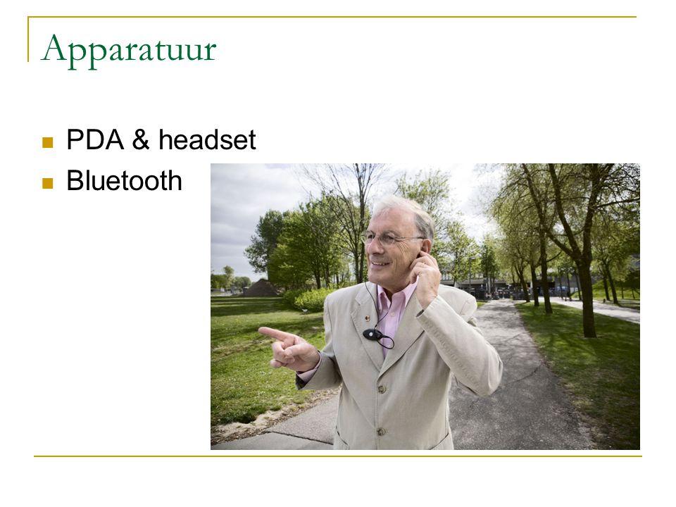 Apparatuur PDA & headset Bluetooth