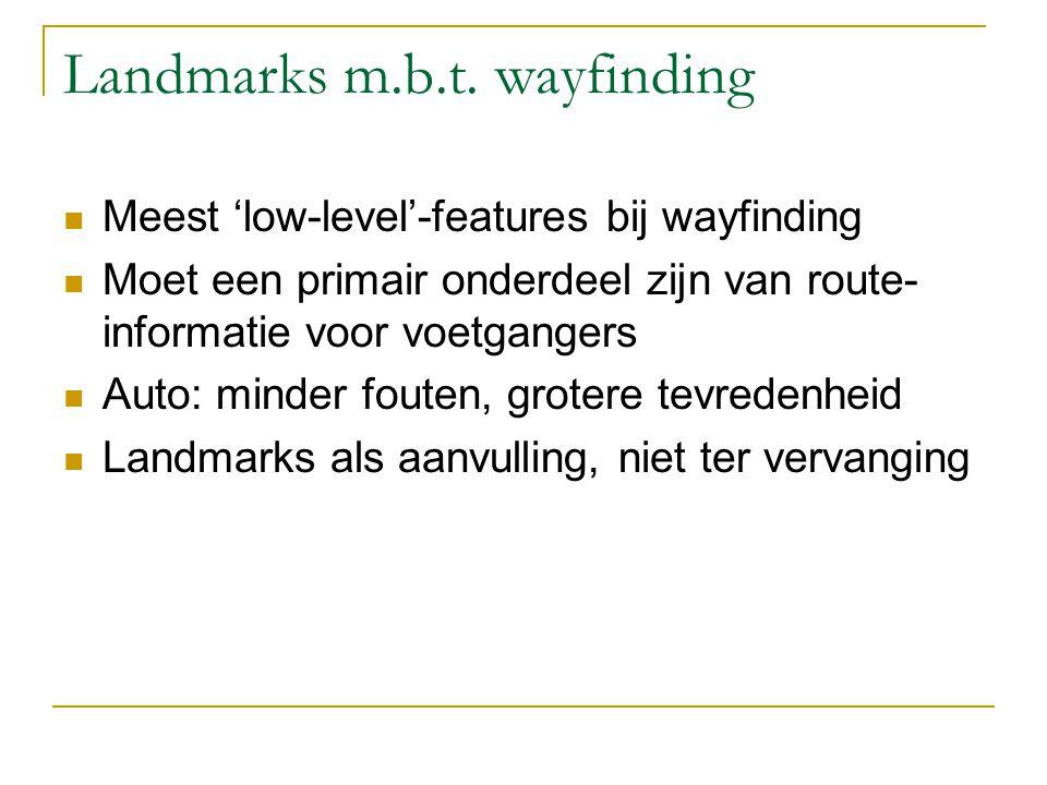 Uitgelicht: P2 Links/rechts-conditieLandmarks-conditie Fouten21 Twijfel70 Beleving4858