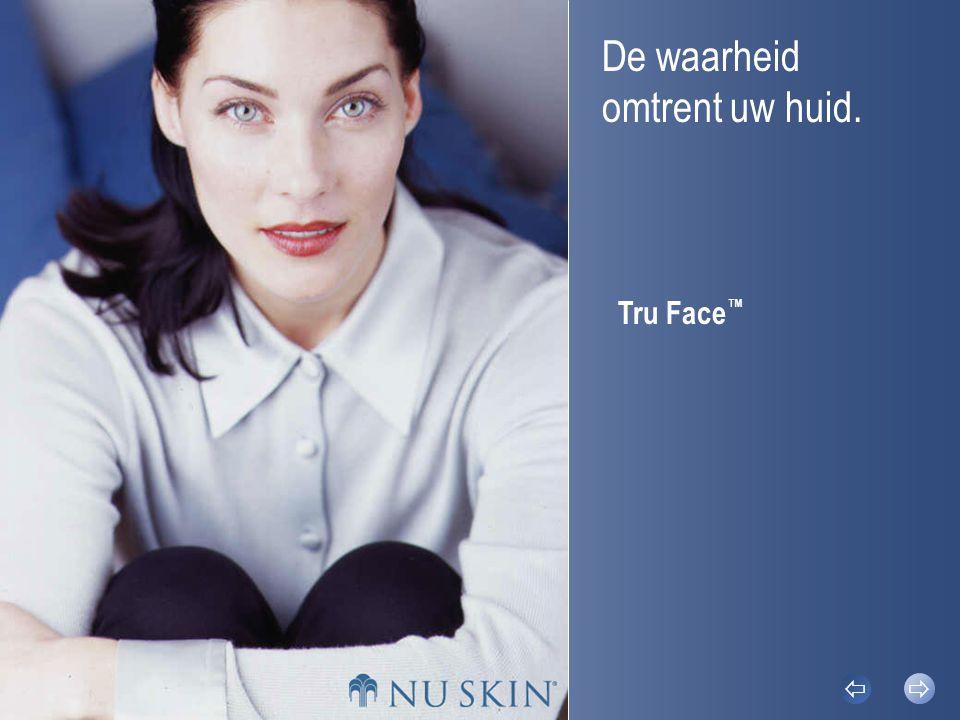 Factoren die de huidveroudering versnellenFeitenTru Face ™ Skin Perfecting GelTru Face ™ Line Corrector Tru Face ™    © 2002 Nu Skin ® Feiten Uw huid beschermt u.