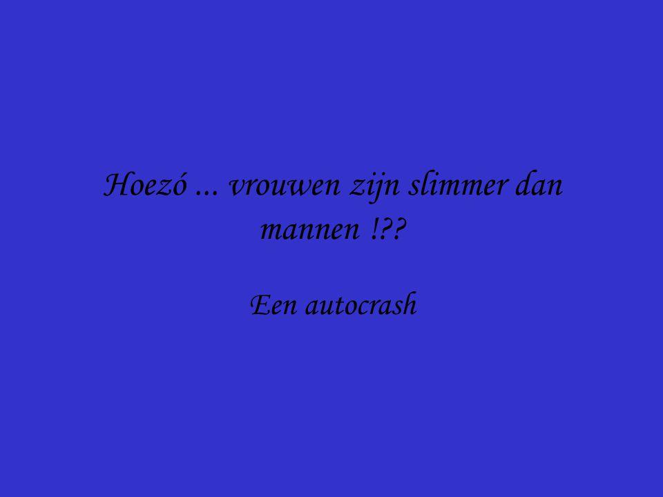 Een autocrash Hoezó... vrouwen zijn slimmer dan mannen !??