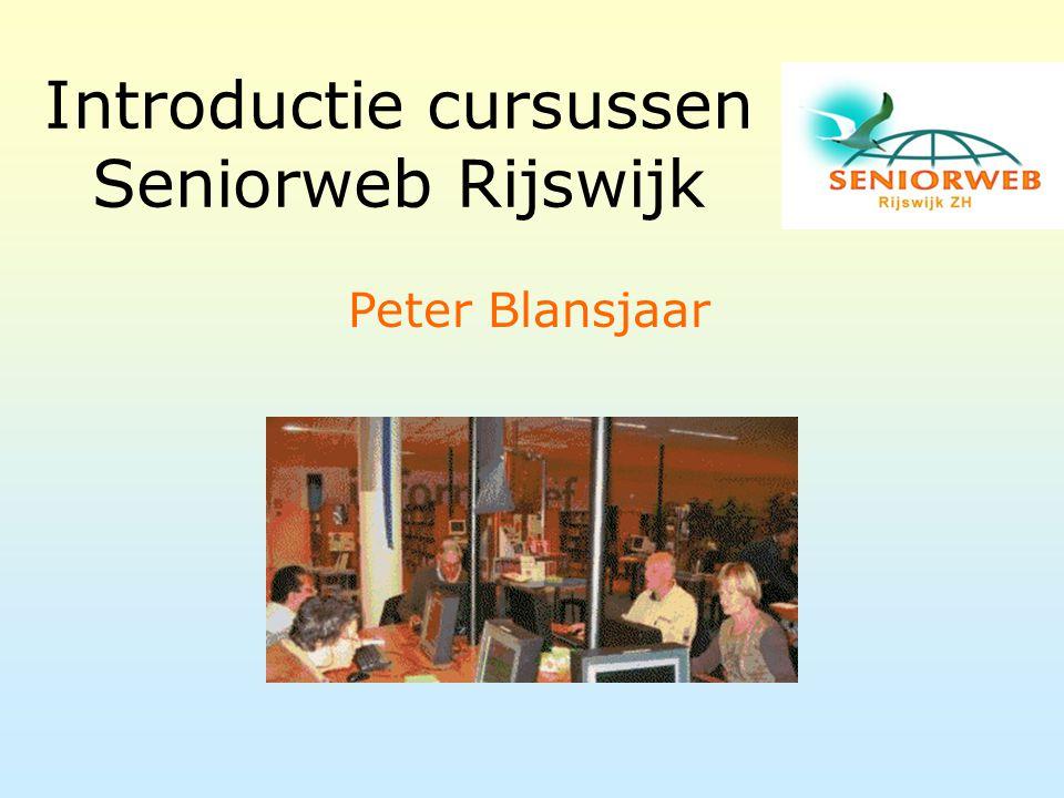 Introductie cursussen Seniorweb Rijswijk Peter Blansjaar