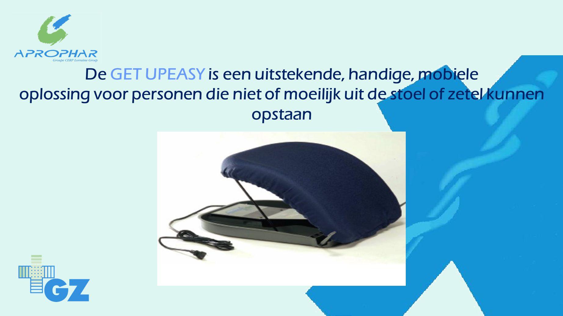 De GET UPEASY is een uitstekende, handige, mobiele oplossing voor personen die niet of moeilijk uit de stoel of zetel kunnen opstaan