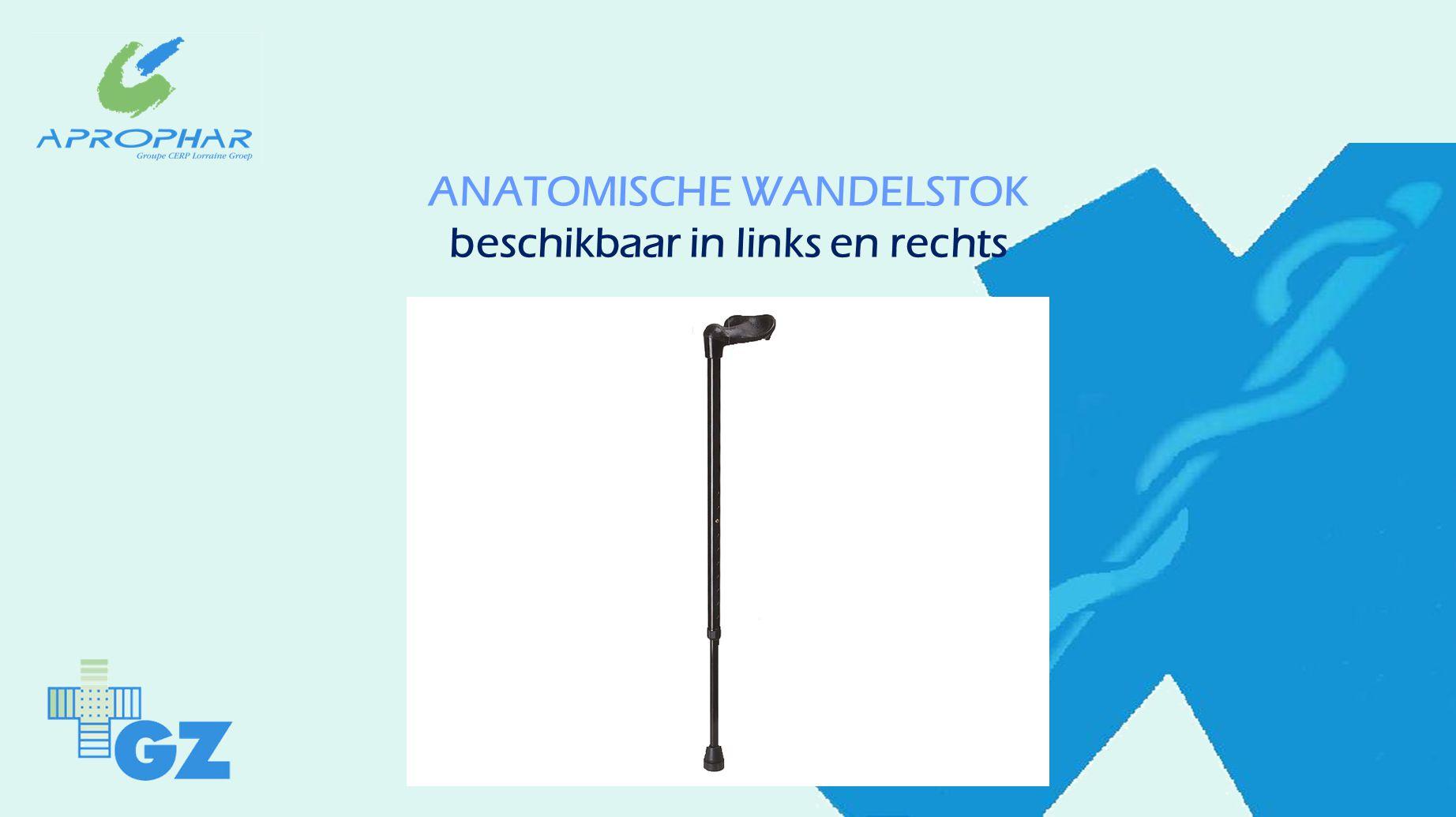ANATOMISCHE WANDELSTOK beschikbaar in links en rechts