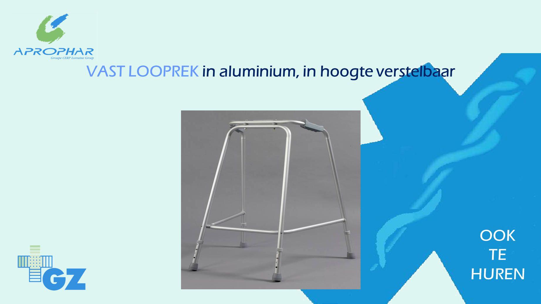 VAST LOOPREK in aluminium, in hoogte verstelbaar OOK TE HUREN