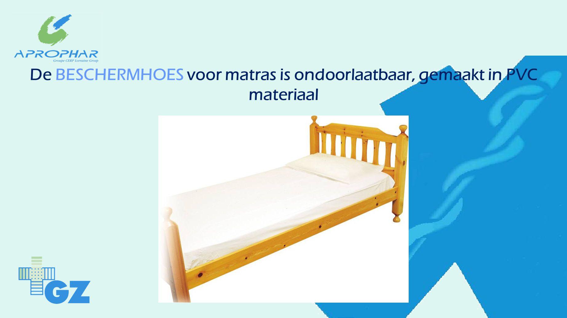 De BESCHERMHOES voor matras is ondoorlaatbaar, gemaakt in PVC materiaal