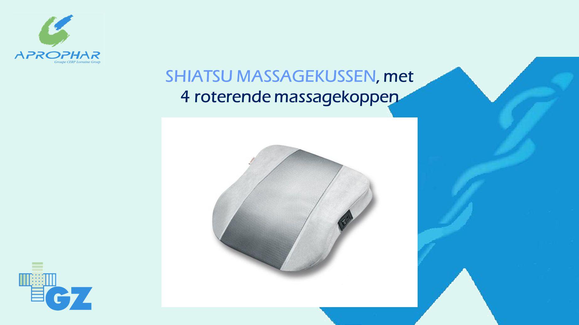 SHIATSU MASSAGEKUSSEN, met 4 roterende massagekoppen