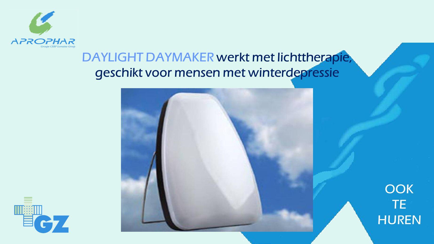 DAYLIGHT DAYMAKER werkt met lichttherapie, geschikt voor mensen met winterdepressie OOK TE HUREN