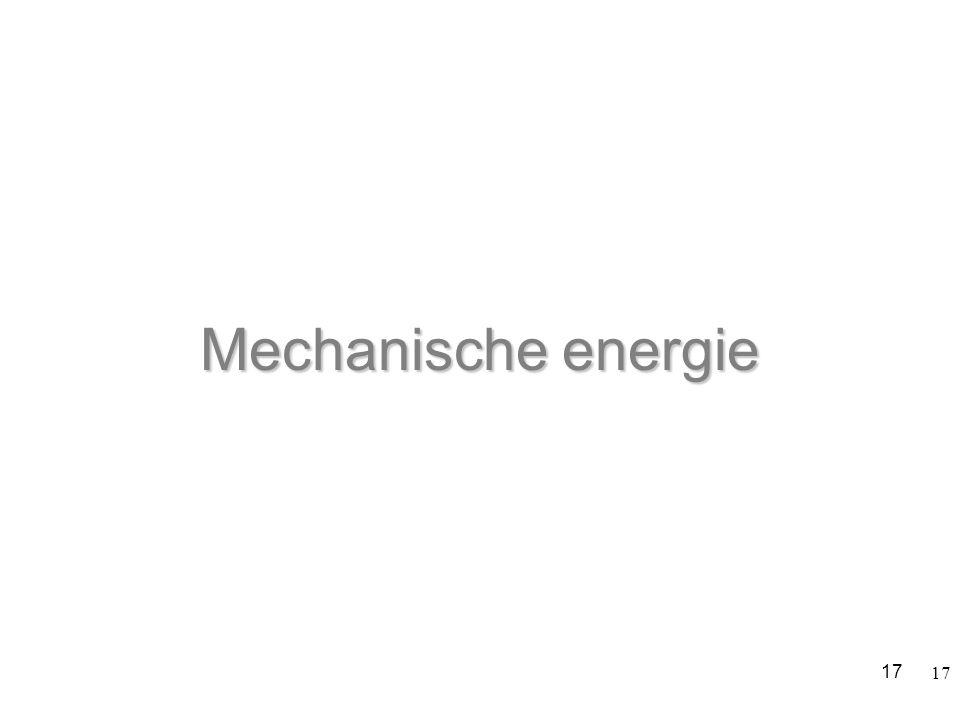 17 Mechanische energie 17