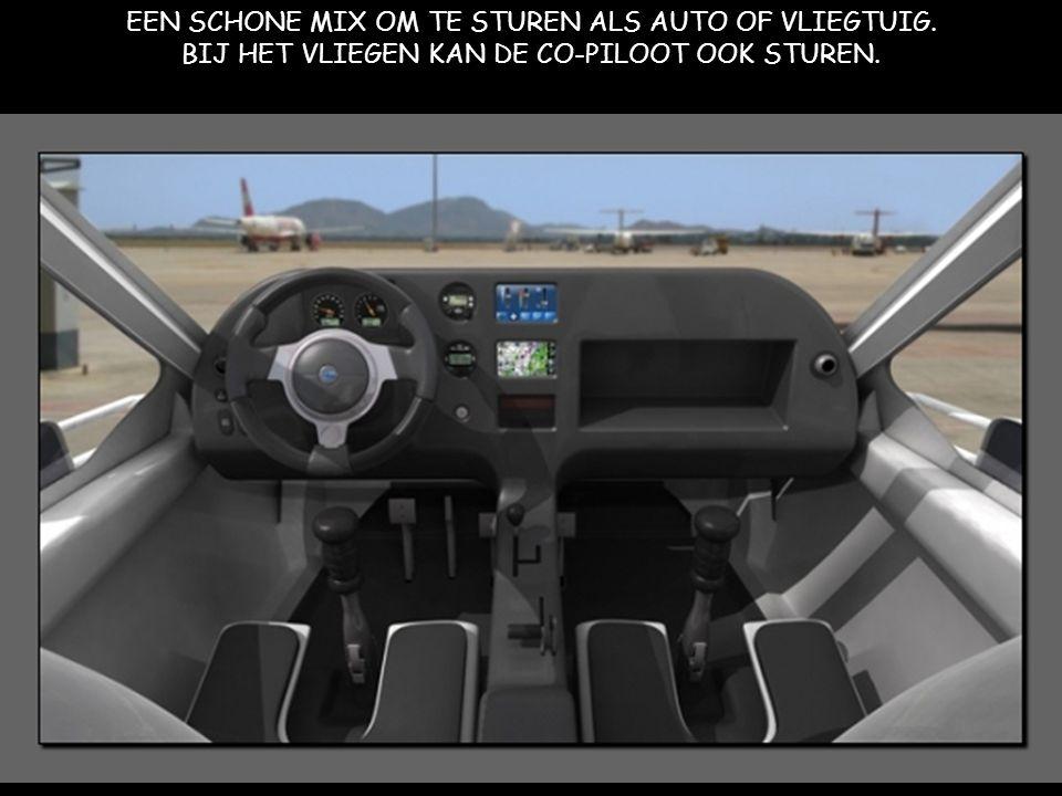 EEN SCHONE MIX OM TE STUREN ALS AUTO OF VLIEGTUIG. BIJ HET VLIEGEN KAN DE CO-PILOOT OOK STUREN.